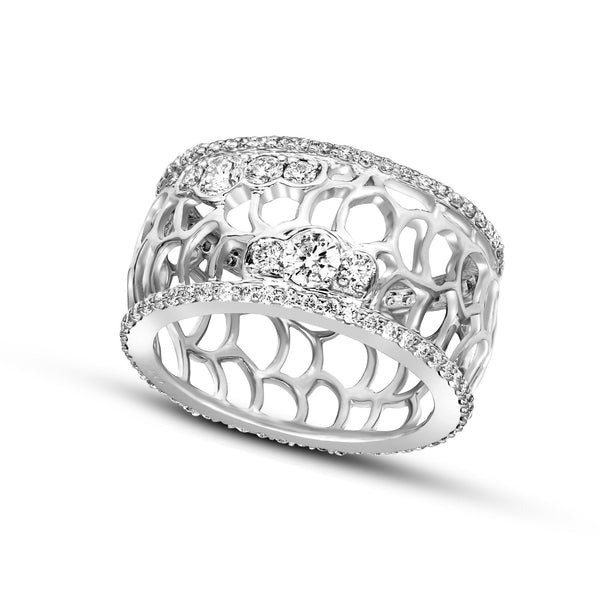 FD Brand New Ring with 1.25ctw Lab Grown Diamonds in 10K White Gold