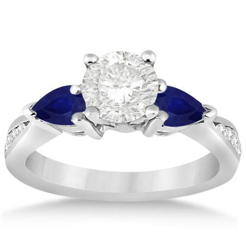 Bedazzled Bijou Brand New Ring with Blue Sapphire in 18K Gold Plated Silver