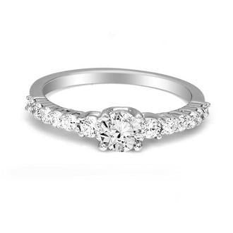 FD Brand New Ring with 0.75ctw Lab Grown Diamonds in 10K White Gold