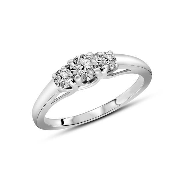 FD Brand New Ring with 0.5ctw Lab Grown Diamonds in 10K White Gold