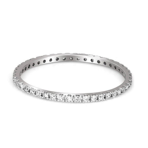 FD Brand New Ring with 0.2ctw Lab Grown Diamonds in 10K White Gold