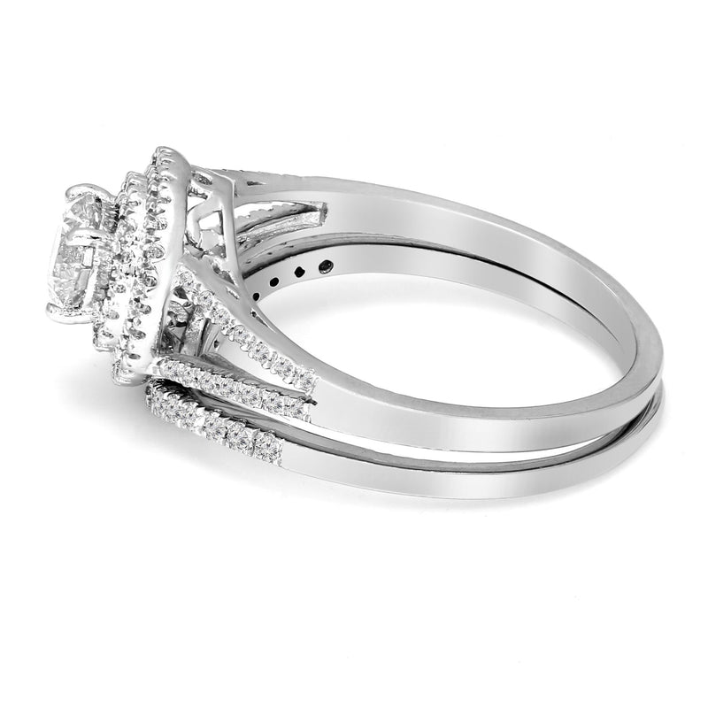 FD Brand New Ring with 1ctw Lab Grown Diamonds in 925 Sterling Silver