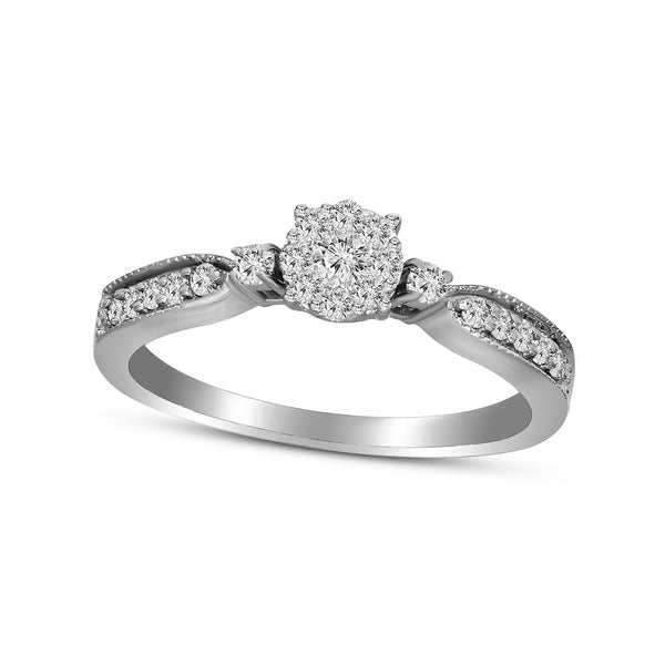 FD Brand New Ring with 0.33ctw Lab Grown Diamonds in 10K White Gold