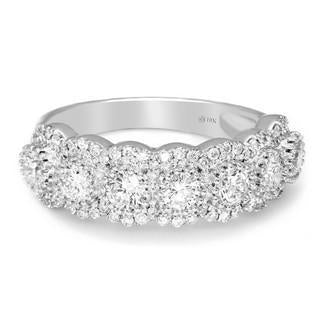 FD Brand New Ring with 1.5ctw Lab Grown Diamonds in 14K White Gold