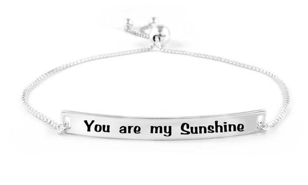 "Bedazzled Bijou Brand New ""You're My Sunshine"" Bracelet in 925 Sterling Silver"
