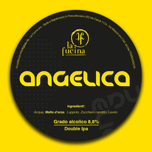 22 lattine 33cl Angelica - Double IPA - Lotto 04/21 - Birra di Pescolanciano, Molise