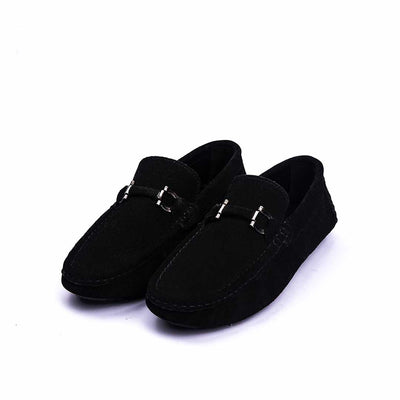 BLACKY - VampWelt Jet Black Suede Driving Moc (2)-VW-128