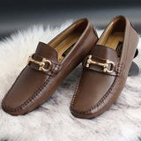 Brown Slipons