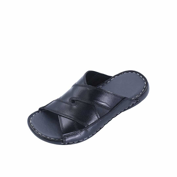 VampWelt Black Leather Slipper (2)-R6 - Vamp Welt