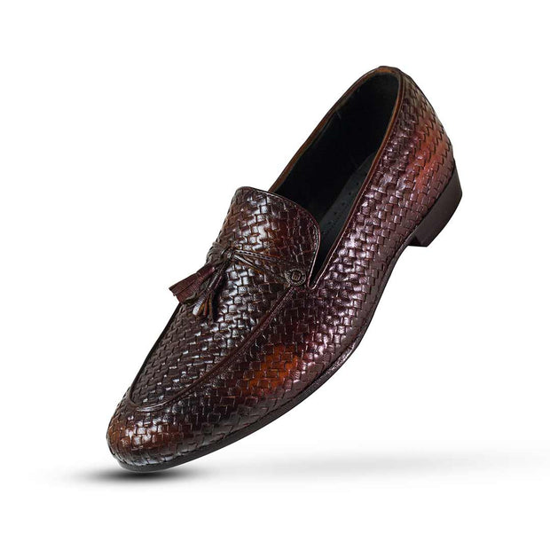 Chocolate Bown Double Tone Loafers - Vamp Welt