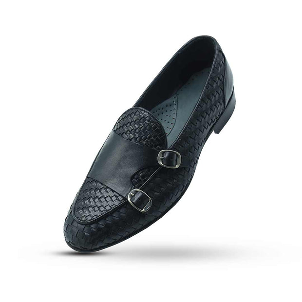 Double Monk Weaving Loafers - Vamp Welt