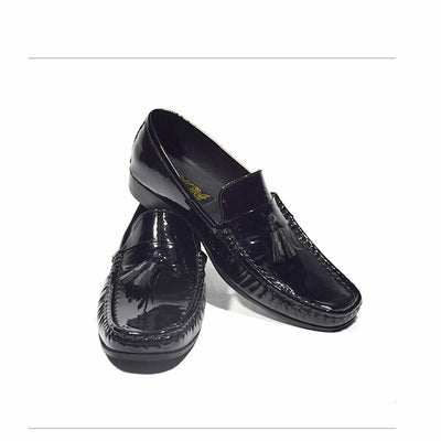 Vampwelt Shiny Patent Black Loafers - 25 (3)-VW-25