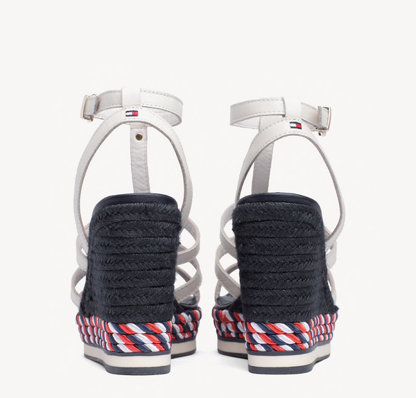 sandały damskie Tommy Hilfiger FW0FW03821 121 Colorful Rope Wedge Sandal whisper white