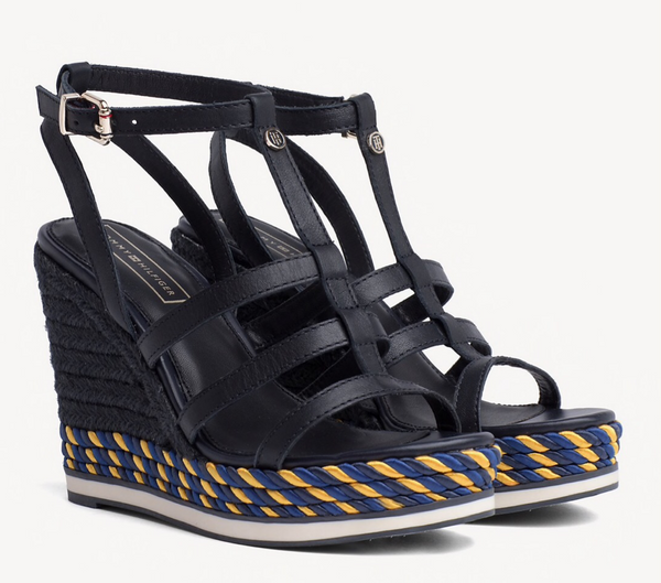 sandały damskie Tommy Hilfiger FW0FW03821 403 Colorful Rope Wedge Sandal