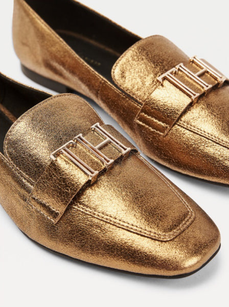 Tommy Hilfiger półbuty FW0FW05147 0LJ Tommy Polished Loafer gold