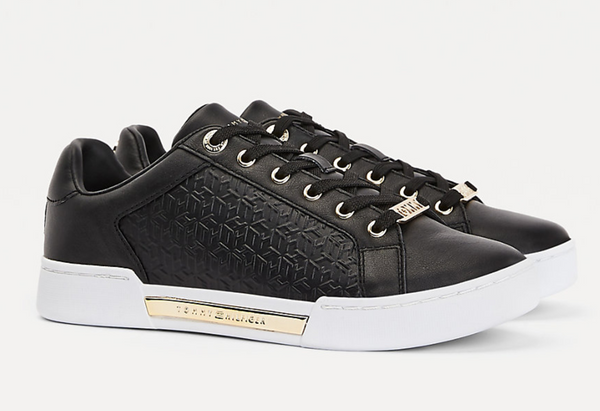 Tommy Hilfiger FW0FW05549 BDS sneakersy TH Monogram elevated black