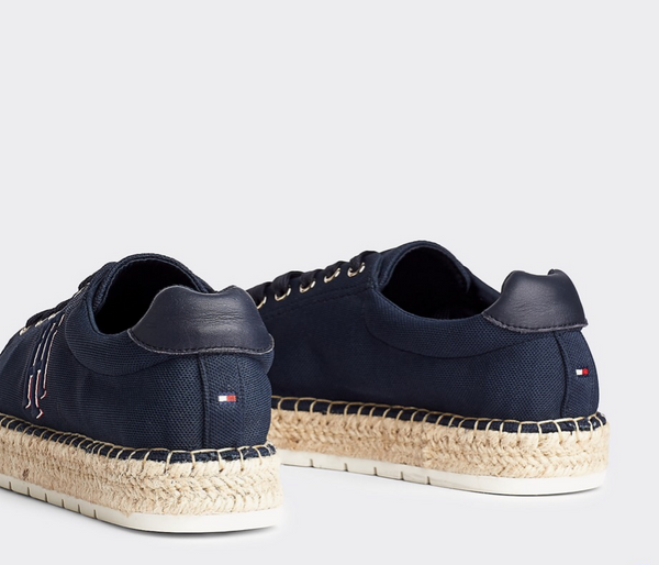 espadryle damskie Tommy Hilfiger FW0FW04749 DW5 Nautical TH Lace UP Espadrille desert sky