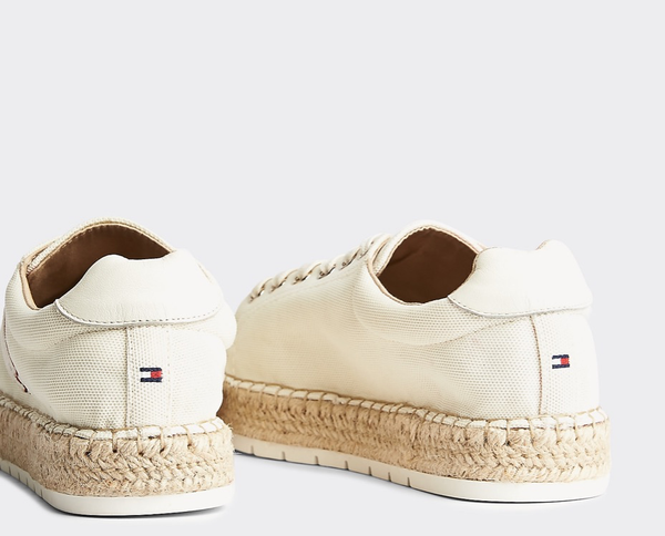 espadryle damskie Tommy Hilfiger FW0FW04749 YBI Nautical TH Lace UP Espadrille ivory