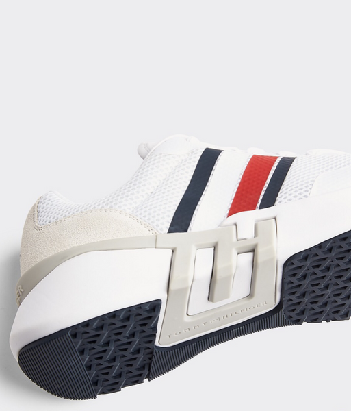 sneakersy Tommy Hilfiger FM0FM02661 YBS Lightweight Corporate TH Runner white