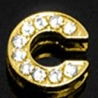 Letter Charm gold 10mm