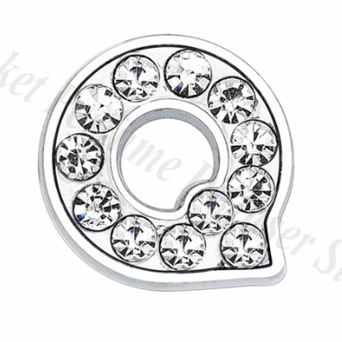 Letter Charm Silver 10mm