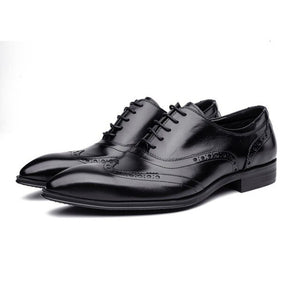 Men/'s Oxfords Leather Shoes Business Formal Dress Casual Point Toe Wedding Shoes