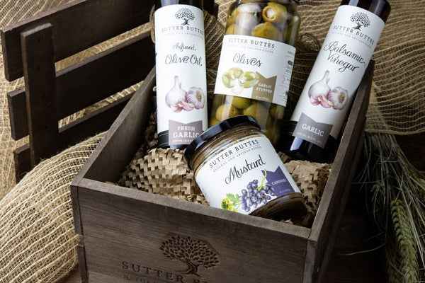 California Fresh Harvest Garlic Gift Crate