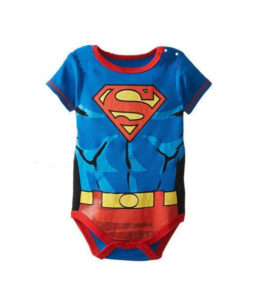 Babygrow Grow Vest Romper Cotton Bodysuit: Superman Suit
