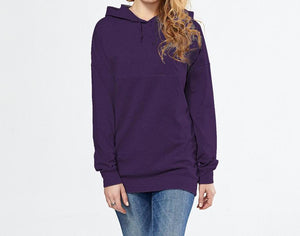 Stylish Maternity Nursing Breastfeeding Hoodie Purple