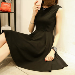 Black Skater Nursing Dress