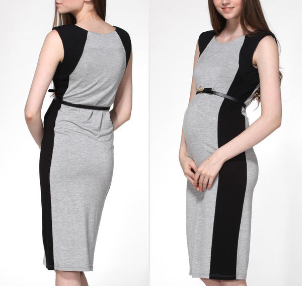 Grey Contour Maternity Shift Dress