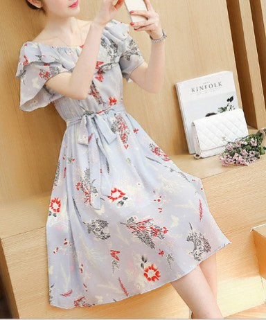 Light Bardot Style Floral Breastfeeding Dress