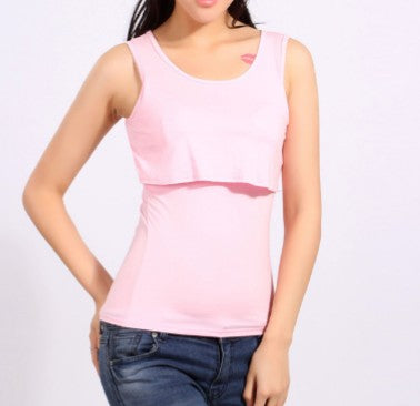 Pastel & Classic Colour Breastfeeding Sleeveless Vest Top
