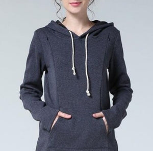 Lightweight Maternity to Nursing Hoodie