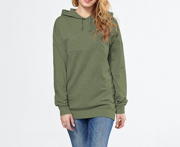 Stylish Maternity Nursing Breastfeeding Hoodie Khaki Green