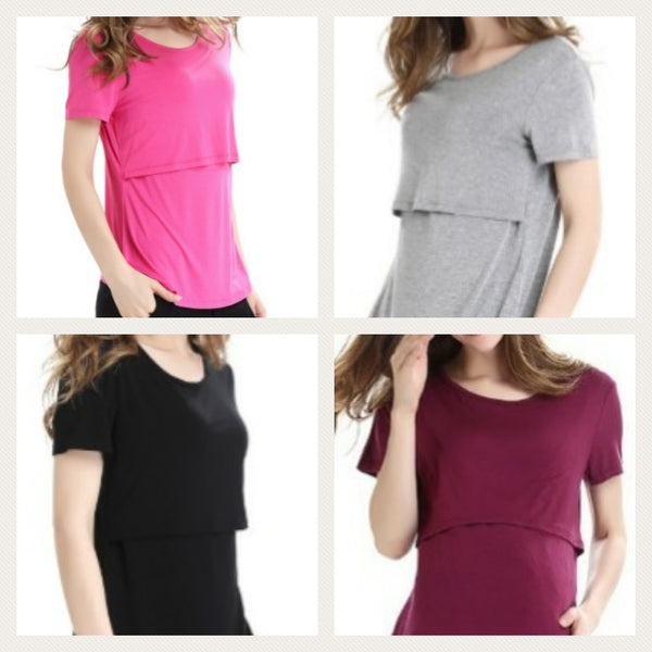 Short Sleeved Breastfeeding T-Shirts