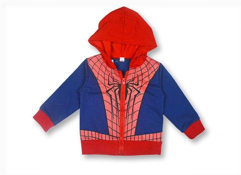 Kid Zip Up Hoodie Jacket: Spider-Man Suit