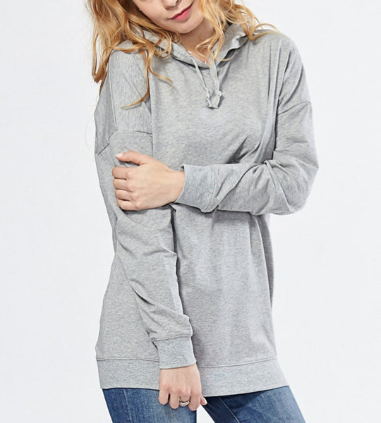 Stylish Maternity Nursing Breastfeeding Hoodie Light Grey