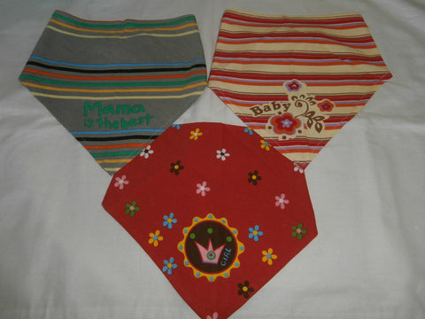 Baby Dribble On Cotton Bandana Slabber Cloths