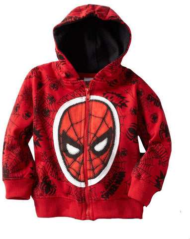 Kid Zip Up Hoodie Jacket: Marvel Comics - Spider-Man Face