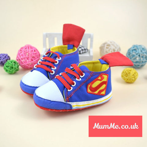 Children's Superhero Shoes: Superman / Supergirl Baby Boots