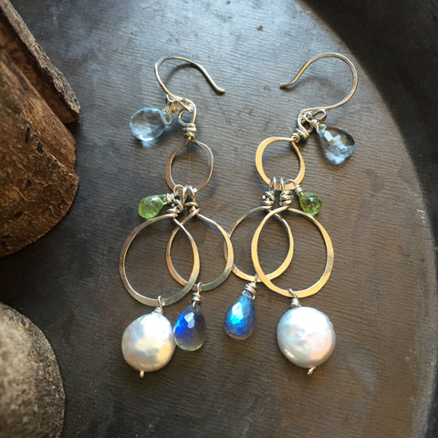 Circles and Stones Earrings