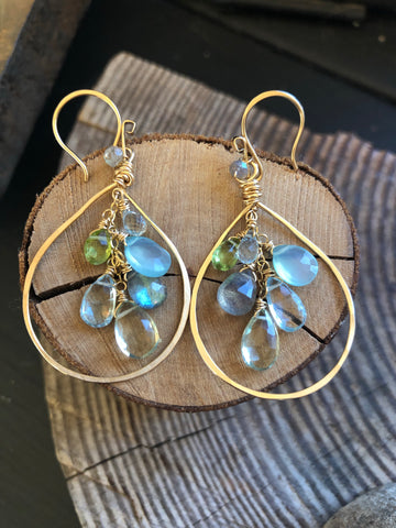 Goldfill Teardrop Cascade Earrings