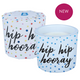 Hip Hip Hooray Wrapped Candle