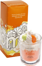 Peach Bellini Piped Candle