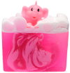 Pink Elephants & Lemonade Soap Sliced