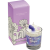 Shinny Happy Purple Piped Candle