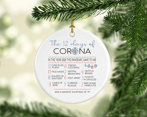 🎅12 Days of Corona 2020 Funny Commemorative Christmas Ornament❤️
