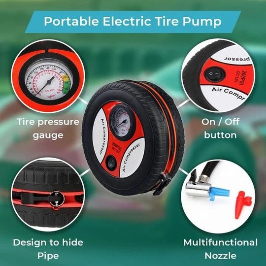 🔥(50%OFF&Buy 2 Free Shipping)Electric Tyre Pump