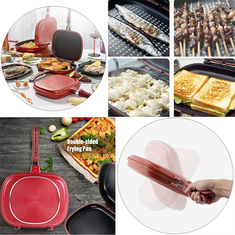 (HOT Sale)Multi-Purpose Double Frying Pan